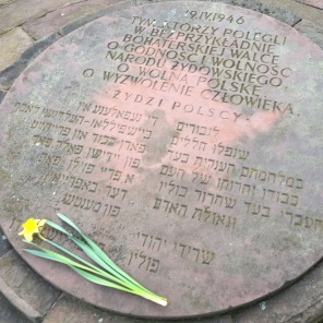 Warsaw: the first commemration to the heroes of the Ghetto