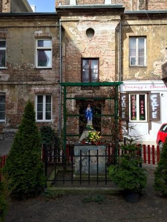 Small Roman Catholic shrine on the way