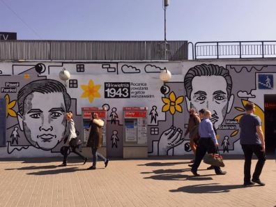 2017 mural for 1943 Ghetto Rising Anniversary
