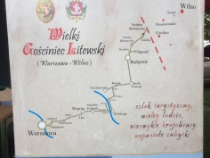 the route to Lithuania