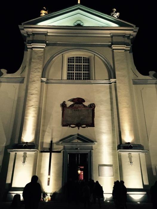 The Basilca in Węgrów at night...