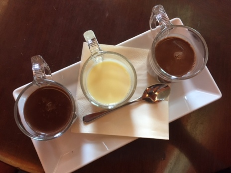 Wedel's chocolate tasting trio